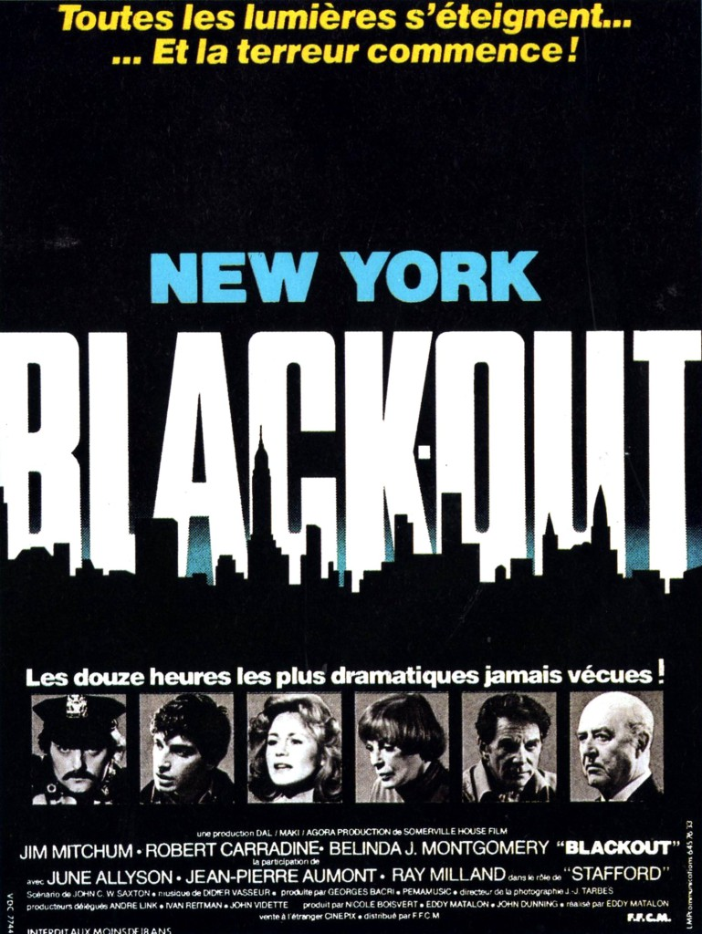 NEW YORK BLACK OUT (ET LA TERREUR COMMENCE)