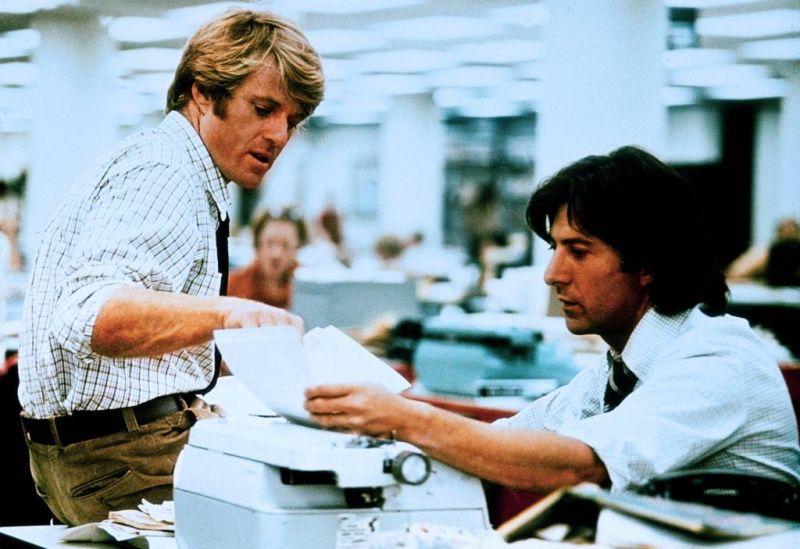 Robert Redford Dustin Hoffman Les Hommes du présidents