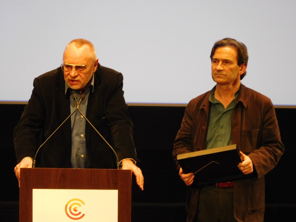 Guy Scarpetta et Benoît Peeters